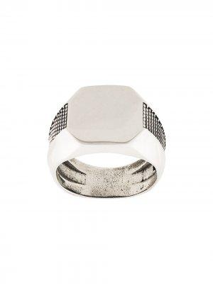 Перстень с заклепками Emanuele Bicocchi. Цвет: серебристый