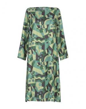 Платье до колена BINI Como. Цвет: зеленый