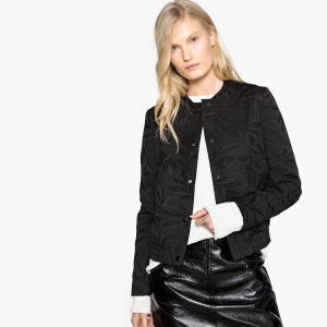 Куртка-бомбер жаккардовая LA REDOUTE COLLECTIONS. Цвет: черный