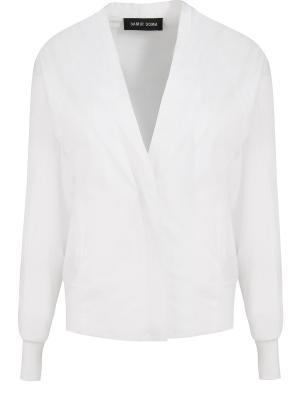 Хлопковая куртка-бомбер Damir Doma. Цвет: белый