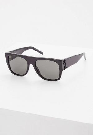 Очки солнцезащитные Saint Laurent SL M16001. Цвет: черный