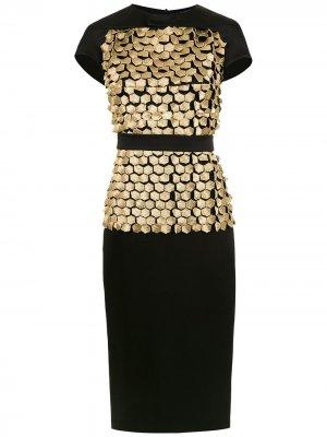 Платье Colmeia Gloria Coelho. Цвет: черный