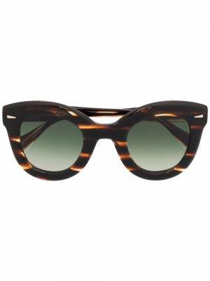 Солнцезащитные очки в оправе кошачий глаз GIGI STUDIOS. Цвет: коричневый