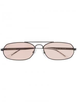 Солнцезащитные очки с узкой оправой Balenciaga Eyewear. Цвет: черный