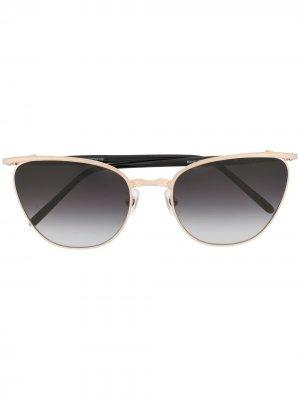 Солнцезащитные очки-авиаторы с затемненными линзами Matsuda. Цвет: золотистый