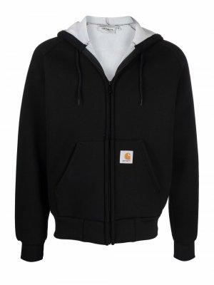 Куртка на молнии с капюшоном Carhartt WIP. Цвет: черный