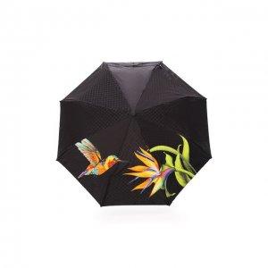 Складной зонт с принтом Doppler. Цвет: разноцветный