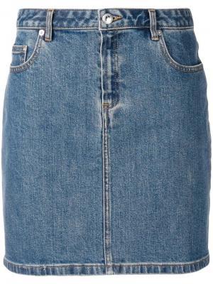 Denim skirt A.P.C.. Цвет: синий