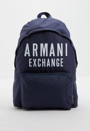 Рюкзак Armani Exchange. Цвет: синий
