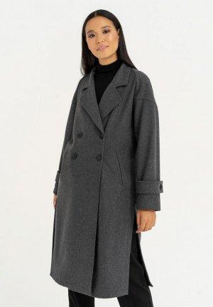 Пальто Ligio. Цвет: серый