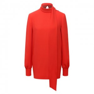 Шелковая блузка Valentino. Цвет: оранжевый