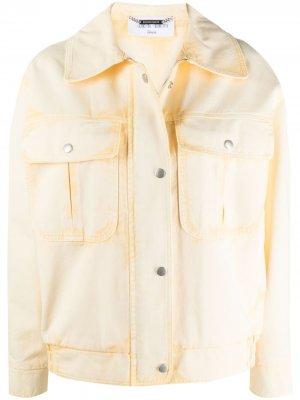 Джинсовая куртка на пуговицах Alberta Ferretti. Цвет: желтый