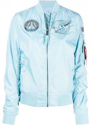 Куртка NASA Alpha Industries. Цвет: синий