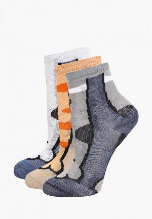 Носки 3 пары Mark Formelle. Цвет: разноцветный