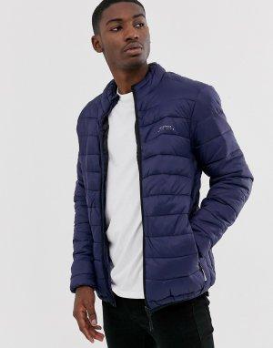 Дутая куртка с воротником-стойкой -Темно-синий Bellfield
