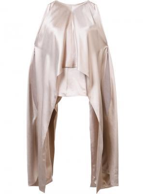 Asymmetric laterals blouse Kaufmanfranco. Цвет: телесный