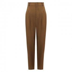Шерстяные брюки Erika Cavallini. Цвет: хаки
