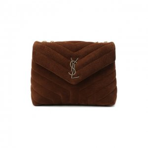 Сумка Loulou Saint Laurent. Цвет: коричневый