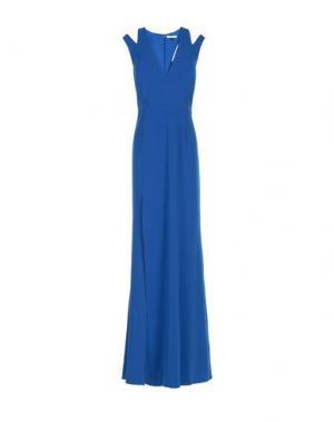 Длинное платье HALSTON. Цвет: ярко-синий