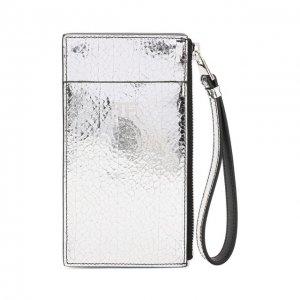 Кожаный футляр для кредитных карт Tom Ford. Цвет: серебряный
