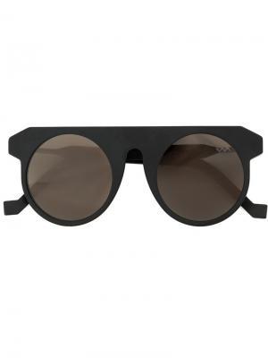 Солнцезащитные очки в круглой оправе Vava. Цвет: чёрный