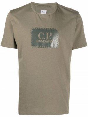 Футболка с логотипом C.P. Company. Цвет: зеленый