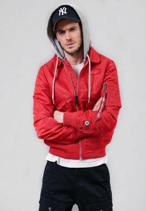 Куртка утепленная Angelo Bonetti. Цвет: красный