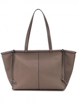 Большая сумка-тоут Cushion Loewe. Цвет: серый