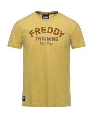 Футболка FREDDY. Цвет: желтый