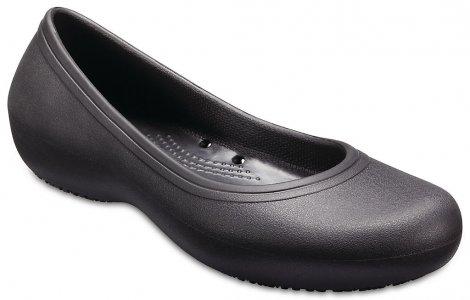 Балетки для работы женские CROCS Women's At Work™ Flat Black (Черный) арт. 205074. Цвет: черный