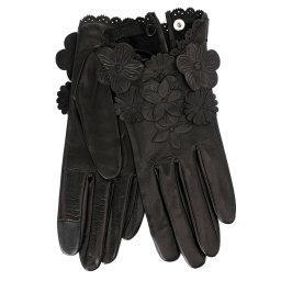 Перчатки RIC_JOSIEFLEUR черный AGNELLE