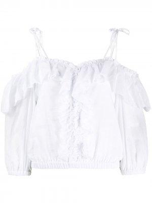 Блузка Blusa Yali с пышными рукавами Charo Ruiz Ibiza. Цвет: белый