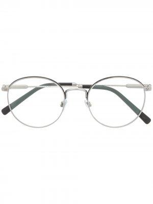 Round frame glasses Bvlgari. Цвет: серебристый
