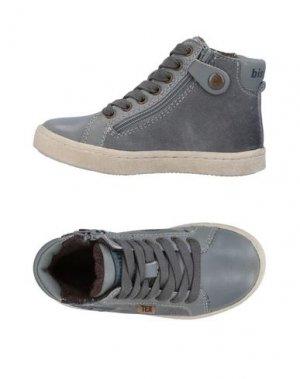 Высокие кеды и кроссовки BISGAARD. Цвет: серый