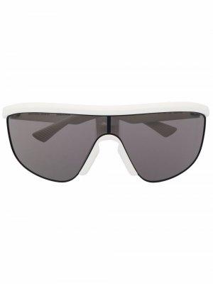 Soft shield sunglasses Bottega Veneta Eyewear. Цвет: белый