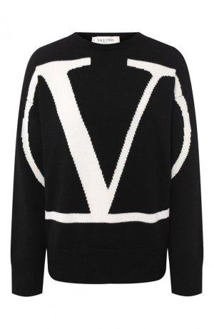 Кашемировый пуловер Valentino. Цвет: черно-белый