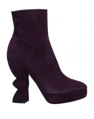 Полусапоги и высокие ботинки SALVATORE FERRAGAMO. Цвет: фиолетовый