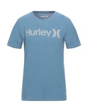 Футболка HURLEY. Цвет: синий