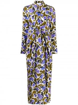 Платье-рубашка с длинными рукавами Christian Wijnants. Цвет: коричневый