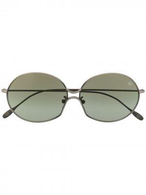 Солнцезащитные очки Kingsman в круглой оправе Cutler & Gross. Цвет: серый