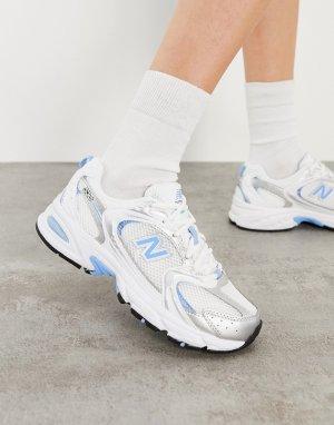 Кроссовки голубого/серебристого цвета New Balance 530-Серебристый