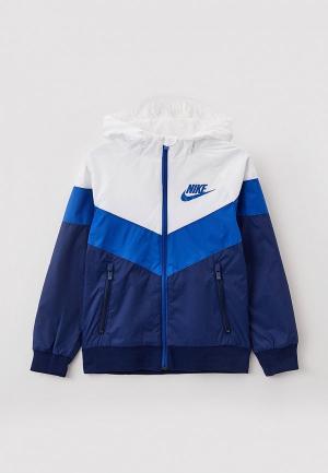 Ветровка Nike B NSW WR JKT HD GX QS. Цвет: синий