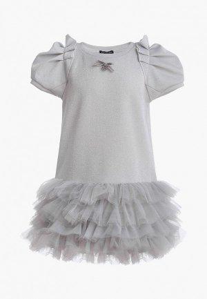 Платье Gulliver. Цвет: серебряный