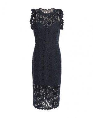 Платье до колена HALSTON. Цвет: темно-синий