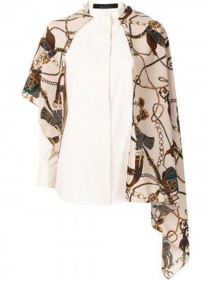 Рубашка-кейп с принтом Rokh. Цвет: коричневый