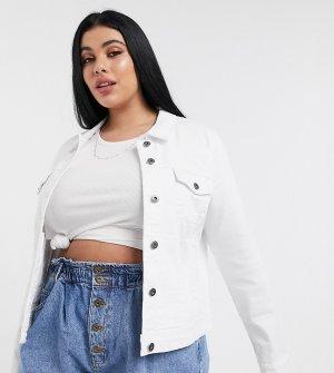 Белая джинсовая куртка -Белый Only Curve