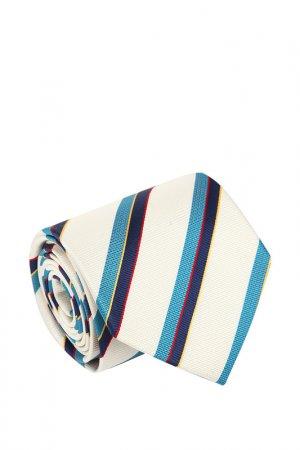 Галстук Basile. Цвет: молочный, темно-голубой, синий