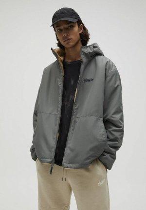 Куртка утепленная Pull&Bear. Цвет: серый