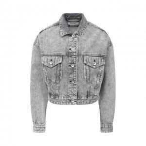 Джинсовая куртка Rag&Bone. Цвет: серый