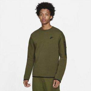 Мужской свитшот Sportswear Tech Fleece - Зеленый Nike